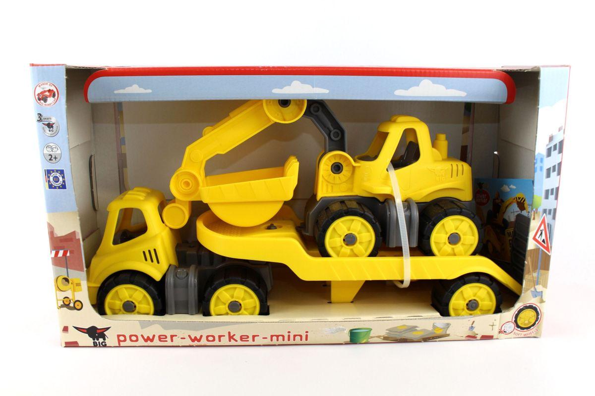 BIG Spielfahrzeug Power Worker Mini Transporter & Bagger