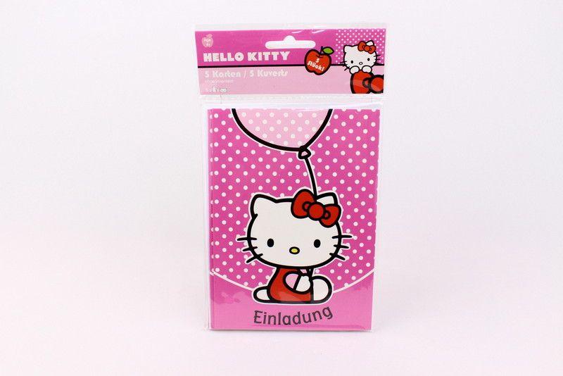 Basteln und Malen • Einladungskarten 5er-Set, Hello Kitty