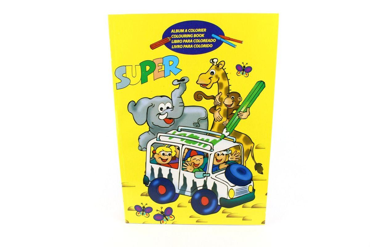 Basteln und Malen » Malbücher • Super Malbuch, gelb